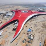 Sådan ser en af vognene til Ferrari World Abu Dhabi GT rollercoaster ud.