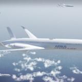 Sådan har cykelrytterne gjort i lang tid, og fuglene i endnu længere tid, nu foreslår flyproducenten Airbus, at man i fremtiden også skal flyve i formation, fordi det kan gøre den kommercielle flydrift endnu mere effektiv og energibesparende. Foto: Airbus