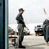 Checkpoint, hvor en selvmordsbomber dræbte 11 mennesker få uger tidligere. MADS NISSEN