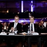 Danske Banks direktion under bankens generalforsamling i Tivoli i marts. Fra venstre er det Georg Schubiger, Henrik Ramlau-Hansen, Thomas F. Borgen og Tonny Thierry Andersen.
