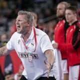 Danmarks cheftræner Nikolaj Jacobsen under semifinalen mellem Danmark-Sverige i Arena Zagreb fredag den 26 januar 2018.