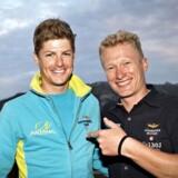 Jakob Fuglsang sammen med sin chef hos Astana, Alexandre Vinokourov. Padova-undersøgelserne retter nye doping-beskyldninger mod det i forvejen belastede Astana-hold.