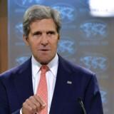 ARKIVFOTO af USAs udenrigsminister John Kerry.