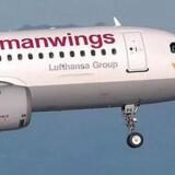 Et arkivbillede af det styrtede Airbus A320-fly fra Germanwings.