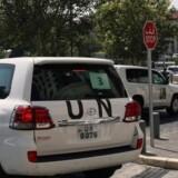 FNs inspektører forlader mandag Damaskus for at køre ud til området, hvor det internationale samfund mistænker det syriske regime for at have udført et kemiske angreb mod civilbefolkningen.