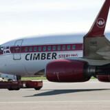 Cimber Sterling-fly køres væk efter konkursen.