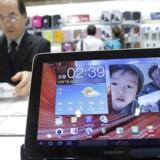 Den nyeste udgave af Galaxy Tab 10.1 er ikke omfattet af det månedlange salgsforbud. Foto: Jo Yong-Hak, Reuters/Scanpix