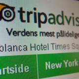"""Der står stadig """"Verdens mest pålidelige rejsetip"""" under logoet, men på hotelsektionen er """"anmeldelser du kan stole"""" ændret til """"anmeldelser fra vores fællesskab""""."""