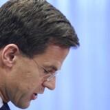 Mark Rutte sørger over de 189 omkomne hollændere om bord på MH17.