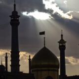 Maria Hellebergs privatfotos er desværre gået tabt – her ses moskeen i Qom.
