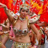 Det to dage lange karneval i Notting Hill i London løber af stablen d. 28. august.
