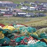Fiskenet i havnen i Torshavn.