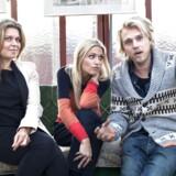 Værterne Felix smith, Sara Bro og Christiane Schaumburg-Müller, da de blev præsenteret som værter for TV2-programmet Weekend Weekend.