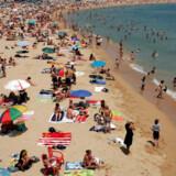 Bogatell strand i Barcelona.