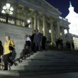 Medlemmer af Repræsentanternes Hus efter skæbneafstemningen om USAs budget.