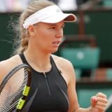 Caroline Wozniacki havde ikke de store problemer med franskmanden Pauline Parmentier i tredje runde. Thomas Samson/Ritzau Scanpix