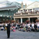 Covent Garden er et af de første turist-steder i London, der har fået det lilla flag.