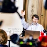 Produktivitetskommissionen fremlægger mandag formiddag sin slutrapport. Her er formand Peter Birch Sørensen ved fremlæggelsen af en af de seks delrapporter i september. Foto: Nikolai Linares