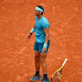 Rafael Nadal vinder French Open for 11. gang. / AFP PHOTO / CHRISTOPHE SIMON