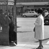 Kun to? Det er slet ikke nok til en rekord. 22 amerikanske collegestuderende kravlede ind i samme telefonboks. Foto: Scanpix