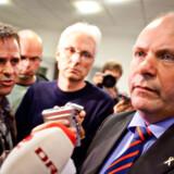 Søren Gade efter mødet med sin forsvarschef.