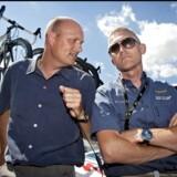 Brian Holm og Bjarne Riis har en lang fortid sammen. Lørdag var Holm ved at afsløre de fremtidsplaner, som Riis bakser med i øjeblikket.