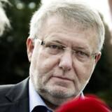 Her ankommer Erling Andersen til en af de i alt tre gange, han er blevet afhørt af medlemmer af Skattesagskommissionen