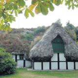 Hedvigs hus med det karakteristiske tangtag er et af de fredede huse på Læsø..
