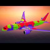 Brugeren Hamza har valgt at kalde sit farverige flydesign til Boeing 787 for Pluz. Giv dit eget bud på designyourown.newairplane.com