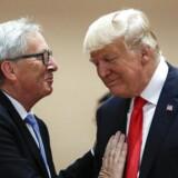 Donald Trump og Jean-Claude Juncker mødtes også sidste år i forbindelse med G20-mødet i Hamburg. Denne gang handler det om at bremse handelskrigen mellem EU og USA, når Juncker besøger Trump i Det Hvide Hus.