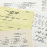 Her ses de tre originale partnerskabsaftaler, der nu er blevet solgt.