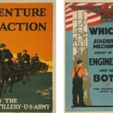 Hverveplakater som de så ud under Første Verdenskrig. Kilde: Library of Congress