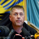 Det var den prorossiske separatist-leder og selvudnævnte borgmester i Slavjansk, Vjatjeslav Ponomajov, der stod bag tilfangetagelsen. Arkivfoto.