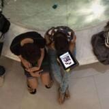 Det stadigt stigende brug af mobil og tablets får også mobilannoncering til at stige markant , men desværre er det de udenlandske aktører der har snuppet gevinsten. Foto: Nicolas /AFP.