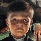 Udsnit af Thomas Kluges portræt, hvor Prins Christian er helt i front.