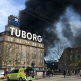 Brand ved Eksperimentarium i Hellerup mandag eftermiddag d. 27. april 2015.