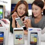 Den gigantiske Samsung Galaxy Note er seneste skud på Galaxy-familien, hvor flagskibet - Galaxy S II - er blevet Samsungs bedst sælgende telefon nogen sinde. Arkivfoto: EPA/Yonhap/Scanpix