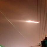 Her ses et billede, der blev taget, da en UFO forstyrrede lufttrafikken i samme lufthavn d. 9. juli i år.
