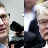 (Tv.) Tidligere skatteminister Troels Lund Poulsen (V) og hans daværende departementschef Peter Loft (th.).