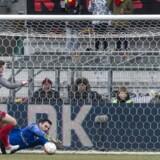 Fodboldkamp mellem FC Nordsjælland og FC Vestsjælland i Superligaen.