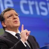 EU Kommissionens formand, Jose Manuel Barroso. løfter pegefingeren overfor de, der mener, at Danmark bør slække på sin stramme finanspolitiske linje.