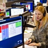 Akutberedskabet Akutmedicinsk Kommunikationscenter i Ballerup d.1.januar 2014, hvor sygeplejerske Ditte Vind var blandt de første, der svarede på telefon 1813.