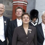 ARKIVFOTO. Audiens hos dronningen. Steffen Normann Hansen står yderst til venstre.