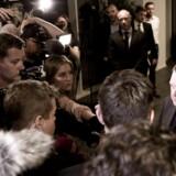 Lars Løkke Rasmussen (V) møder pressen efter mødet i forretningsudvalget i Venstre.