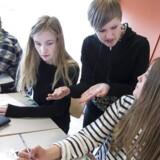 ARKIVFOTO. 15 af landets gymnasier vil være truet af lukning, hvis der bliver indført et karaktergennemsnit på mellem 4 og 7 for at komme i gymnasiet, viser ny analyse.