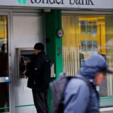 Krak Tønder Bank - Her Tønder Banks afdeling i Vejen. Tønder Bank er blevet overtaget af Sydbank. Aktionærerne har mistet omkring 200 mill kroner.