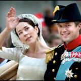 - DANMARK - ÅRTIET I BILLEDER - Kronprns Frederik og Mary Donaldsen vies i Københavns Domkirke den 14. maj 2004