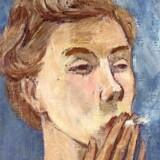 Tove Jansson: Selvportræt med cigaret, 1940.