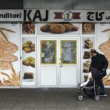 Bageri i Tingbjerg, som er ejet af Ali Parnian. Bageriet blev smadret, fordi Ali Parnian nægter at betale beskyttelsespenge.