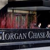 J.P. Morgan Chase blev det største offer i en kæmpe hackersag, som nu rulles op i USA. Alene herfra blev personlige oplysninger om 83 millioner kunder stjålet. Arkivfoto: Stan Honda, AFP/Scanpix